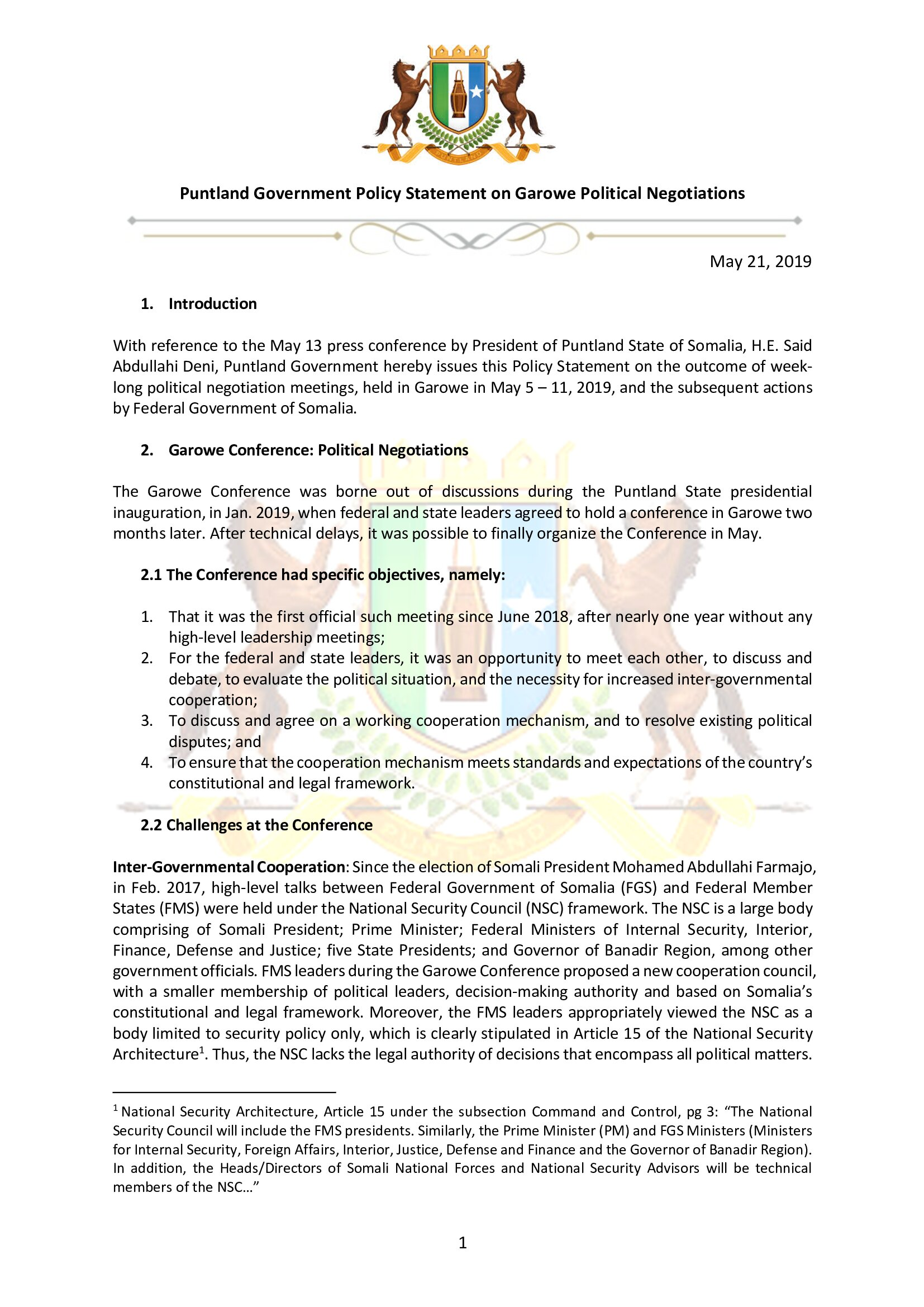 1.Puntland Position paper on Garowe conference_5-11 May 2019_000