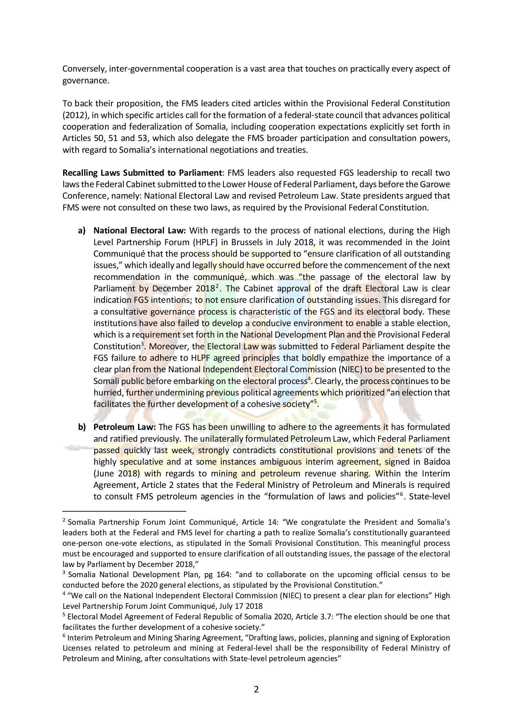 2. Puntland Position paper on Garowe conference_5-11 May 2019_001