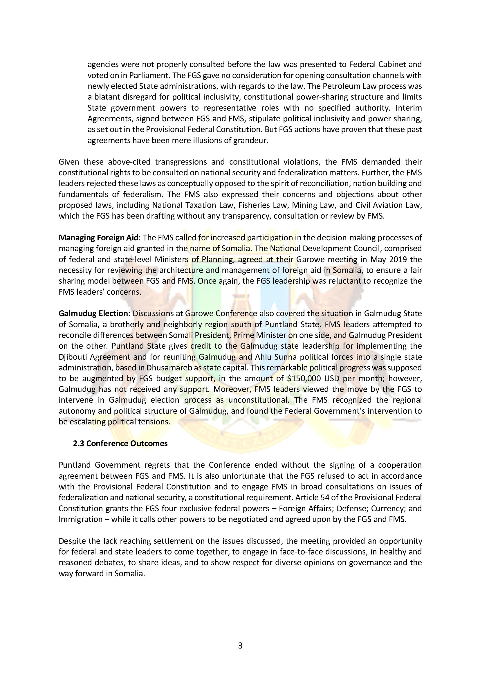 3. Puntland Position paper on Garowe conference_5-11 May 2019_002