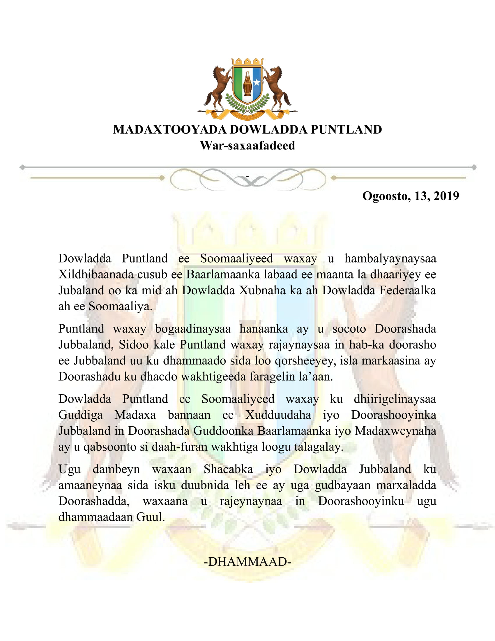 Draft Jubaland Issue-1