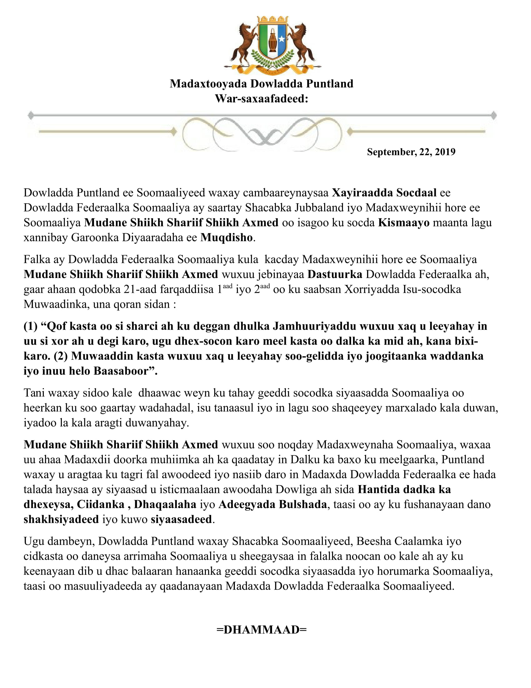 Final One Press Release for Jubaland Issue-1